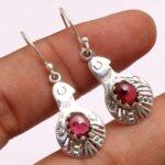 Garnet-Gemstone-Sterling-Silver-Hamsa-Dangle-Earrings-for-Women-and-Girls-Bezel-Set-Ear-Wire-Earrings-Red-Bridesmaid-E-B08K62VYDR-2