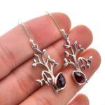 Garnet-Gemstone-Sterling-Silver-Tree-Drop-Earrings-for-Women-and-Girls-Bezel-Set-Ear-Wire-Earrings-Red-Bridesmaid-Earr-B08K63RSXZ