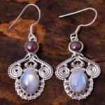 Garnet-Gemstone-Sterling-Silver-Vintage-Drop-Earrings-for-Women-and-Girls-Bezel-Set-Ear-Wire-Earrings-Red-Bridesmaid-E-B08K6598VY-2