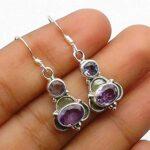 Genuine-Oval-Round-amethyst-Gemstone-Sterling-Silver-Small-Dangle-Earrings-for-Women-Bezel-Set-Ear-Wire-Earrings-Purp-B08HLZ2HCV