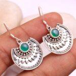 Green-Onyx-Gemstone-Sterling-Silver-Crescent-Moon-Dangle-Earrings-for-Women-and-Girls-Bezel-Set-Ear-Wire-Earrings-Gree-B08K6251GQ