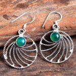 Green-Onyx-Gemstone-Sterling-Silver-Dangle-Earrings-for-Women-and-Girls-Bezel-Set-Ear-Wire-Earrings-Green-Bridesmaid-E-B08K6589P3