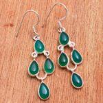 Green-Onyx-Gemstone-Sterling-Silver-Designer-Drop-Earrings-for-Women-and-Girls-Bezel-Set-Ear-Wire-Earrings-Green-Bride-B08K61G6RQ
