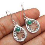 Green-Onyx-Gemstone-Sterling-Silver-Drop-Earrings-for-Women-and-Girls-Bezel-Set-Ear-Wire-Earrings-Green-Bridesmaid-Ear-B08K61GMJN