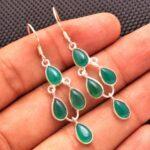 Green-Onyx-Gemstone-Sterling-Silver-Drop-Earrings-for-Women-and-Girls-Bezel-Set-Ear-Wire-Earrings-Green-Bridesmaid-Ear-B08K62VXTD-2