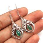 Green-Onyx-Gemstone-Sterling-Silver-Drop-Earrings-for-Women-and-Girls-Bezel-Set-Ear-Wire-Earrings-Green-Bridesmaid-Ear-B08K62ZPZK