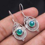 Green-Onyx-Gemstone-Sterling-Silver-Drop-Earrings-for-Women-and-Girls-Bezel-Set-Ear-Wire-Earrings-Green-Bridesmaid-Ear-B08K63QSYJ