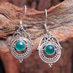 Green-Onyx-Gemstone-Sterling-Silver-Drop-Earrings-for-Women-and-Girls-Bezel-Set-Ear-Wire-Earrings-Green-Bridesmaid-Ear-B08K63QSYJ-2