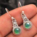 Green-Onyx-Gemstone-Sterling-Silver-Drop-Earrings-for-Women-and-Girls-Bezel-Set-Ear-Wire-Earrings-Green-Bridesmaid-Ear-B08K65HWLZ