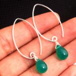 Green-Onyx-Gemstone-Sterling-Silver-Drop-Earrings-for-Women-and-Girls-Bezel-Set-Fishhook-Earrings-Green-Bridesmaid-Ear-B08K617G9P