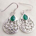 Green-Onyx-Gemstone-Sterling-Silver-Filigree-Drop-Earrings-for-Women-and-Girls-Bezel-Set-Ear-Wire-Earrings-Green-Bride-B08K639314