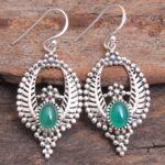 Green-Onyx-Gemstone-Sterling-Silver-Leaf-Drop-Earrings-for-Women-and-Girls-Bezel-Set-Ear-Wire-Earrings-Green-Bridesmai-B08K622WTM-2
