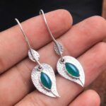 Green-Onyx-Gemstone-Sterling-Silver-Leaf-Drop-Earrings-for-Women-and-Girls-Bezel-Set-Ear-Wire-Earrings-Green-Bridesmai-B08K636F4R