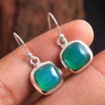Green-Onyx-Gemstone-Sterling-Silver-Minimal-Dangle-Earrings-for-Women-and-Girls-Bezel-Set-Ear-Wire-Earrings-Green-Brid-B08K632QVT