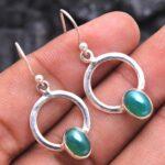 Green-Onyx-Gemstone-Sterling-Silver-Small-Dangle-Earrings-for-Women-and-Girls-Bezel-Set-Ear-Wire-Earrings-Green-Brides-B08K614T8H-2