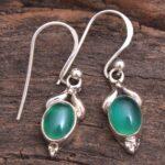Green-Onyx-Gemstone-Sterling-Silver-Small-Drop-Earrings-for-Women-and-Girls-Bezel-Set-Ear-Wire-Earrings-Green-Bridesma-B08K621N68-2