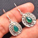 Green-Onyx-Gemstone-Sterling-Silver-Vintage-Dangle-Earrings-for-Women-and-Girls-Bezel-Set-Ear-Wire-Earrings-Green-Brid-B08K64QTKB
