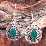 Green-Onyx-Gemstone-Sterling-Silver-Vintage-Dangle-Earrings-for-Women-and-Girls-Bezel-Set-Ear-Wire-Earrings-Green-Brid-B08K64QTKB-2