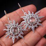 Green-amethyst-Gemstone-Sterling-Silver-Sun-Dangle-Earrings-for-Women-and-Girls-Bezel-Set-Ear-Wire-Earrings-Green-Brid-B08K6251GR