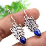 Kyanite-Gemstone-Sterling-Silver-Dangle-Earrings-for-Women-and-Girls-Bezel-Set-Ear-Wire-Earrings-Blue-Bridesmaid-Earri-B08K639NHB