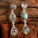 Labradorite-Gemstone-Sterling-Silver-3-tier-Drop-Earrings-for-Women-and-Girls-Bezel-Set-Pushback-Earrings-Blue-Bridesm-B08K62Y688