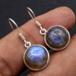 Labradorite-Gemstone-Sterling-Silver-Dangle-Earrings-for-Women-and-Girls-Bezel-Set-Ear-Wire-Earrings-Blue-Bridesmaid-E-B08K5YCT9K