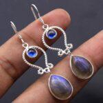 Labradorite-Gemstone-Sterling-Silver-Drop-Earrings-for-Women-and-Girls-Bezel-Set-Ear-Wire-Earrings-Blue-Bridesmaid-Ear-B08K5XQ5KZ