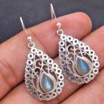 Labradorite-Gemstone-Sterling-Silver-Drop-Earrings-for-Women-and-Girls-Bezel-Set-Ear-Wire-Earrings-Blue-Bridesmaid-Ear-B08K5ZXW7Y-2