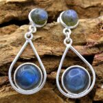 Labradorite-Gemstone-Sterling-Silver-Drop-Earrings-for-Women-and-Girls-Bezel-Set-Pushback-Earrings-Blue-Bridesmaid-Ear-B08K63Q75P