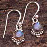 Labradorite-Gemstone-Sterling-Silver-Small-Dangle-Earrings-for-Women-and-Girls-Bezel-Set-Ear-Wire-Earrings-Blue-Brides-B08K613PPC-2