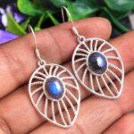 Labradorite-Gemstone-Sterling-Silver-Web-Drop-Earrings-for-Women-and-Girls-Bezel-Set-Ear-Wire-Earrings-Blue-Bridesmaid-B08K635QNP