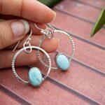 Larimar-Gemstone-Earring-925-Sterling-Silver-Earring-Solid-Silver-Jewelry-Handmade-Jewelry-Dangle-Earring-Drop-Earr-B0846KF4D2