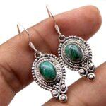 Malachite-Gemstone-Sterling-Silver-Boho-Dangle-Earrings-for-Women-and-Girls-Bezel-Set-Ear-Wire-Earrings-Green-Bridesma-B08K5ZTYQV