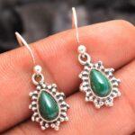 Malachite-Gemstone-Sterling-Silver-Drop-Earrings-for-Women-and-Girls-Bezel-Set-Ear-Wire-Earrings-Green-Bridesmaid-Earr-B08K61CSGV-2