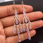 Moonstone-Gemstone-Sterling-Silver-Chandelier-Earrings-for-Women-and-Girls-Bezel-Set-Ear-Wire-Earrings-White-Bridesmai-B08K63RHZW-2
