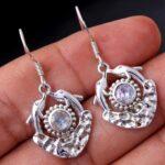 Moonstone-Gemstone-Sterling-Silver-Dangle-Earrings-for-Women-and-Girls-Bezel-Set-Ear-Wire-Earrings-White-Bridesmaid-Ea-B08K614T8F