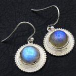 Moonstone-Gemstone-Sterling-Silver-Dangle-Earrings-for-Women-and-Girls-Bezel-Set-Ear-Wire-Earrings-White-Bridesmaid-Ea-B08K61BQ6V