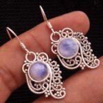 Moonstone-Gemstone-Sterling-Silver-Dangle-Earrings-for-Women-and-Girls-Bezel-Set-Ear-Wire-Earrings-White-Bridesmaid-Ea-B08K64H5RR