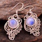 Moonstone-Gemstone-Sterling-Silver-Dangle-Earrings-for-Women-and-Girls-Bezel-Set-Ear-Wire-Earrings-White-Bridesmaid-Ea-B08K64H5RR-2