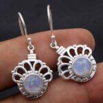 Moonstone-Gemstone-Sterling-Silver-Dangle-Earrings-for-Women-and-Girls-Bezel-Set-Ear-Wire-Earrings-White-Bridesmaid-Ea-B08K64TXCG