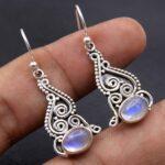 Moonstone-Gemstone-Sterling-Silver-Dangle-Earrings-for-Women-and-Girls-Bezel-Set-Ear-Wire-Earrings-White-Bridesmaid-Ea-B08K65BJW6-2