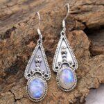 Moonstone-Gemstone-Sterling-Silver-Drop-Earrings-for-Women-and-Girls-Bezel-Set-Ear-Wire-Earrings-White-Bridesmaid-Earr-B08K5Z8Q1M