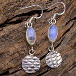 Moonstone-Gemstone-Sterling-Silver-Drop-Earrings-for-Women-and-Girls-Bezel-Set-Ear-Wire-Earrings-White-Bridesmaid-Earr-B08K5ZVB4K