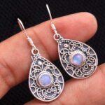 Moonstone-Gemstone-Sterling-Silver-Drop-Earrings-for-Women-and-Girls-Bezel-Set-Ear-Wire-Earrings-White-Bridesmaid-Earr-B08K62GRV7