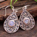 Moonstone-Gemstone-Sterling-Silver-Drop-Earrings-for-Women-and-Girls-Bezel-Set-Ear-Wire-Earrings-White-Bridesmaid-Earr-B08K62GRV7-2