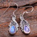 Moonstone-Gemstone-Sterling-Silver-Drop-Earrings-for-Women-and-Girls-Bezel-Set-Ear-Wire-Earrings-White-Bridesmaid-Earr-B08K62HDF4