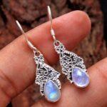 Moonstone-Gemstone-Sterling-Silver-Drop-Earrings-for-Women-and-Girls-Bezel-Set-Ear-Wire-Earrings-White-Bridesmaid-Earr-B08K62HDF4-2