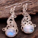 Moonstone-Gemstone-Sterling-Silver-Drop-Earrings-for-Women-and-Girls-Bezel-Set-Ear-Wire-Earrings-White-Bridesmaid-Earr-B08K63QSYH