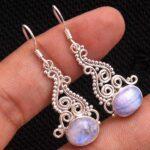 Moonstone-Gemstone-Sterling-Silver-Drop-Earrings-for-Women-and-Girls-Bezel-Set-Ear-Wire-Earrings-White-Bridesmaid-Earr-B08K63QSYH-2