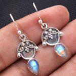Moonstone-Gemstone-Sterling-Silver-Drop-Earrings-for-Women-and-Girls-Bezel-Set-Ear-Wire-Earrings-White-Bridesmaid-Earr-B08K658ZZF